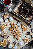 Lebkuchenplätzchen zu Weihnachten