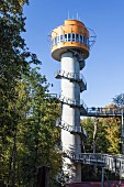The viewing tower on the treetop trail in the Hainich National Park in the Thuringian Forest, Thuringia, Germany