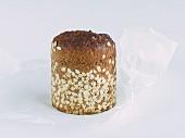 Wholegrain rye bread on paper