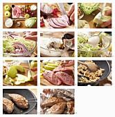 Spitzkohl-Waldorfsalat mit Schweinefilet zubereiten