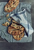 Fougasse (yeast bread with olives, France)