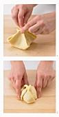 Apfel-Zimt-Klösse zubereiten
