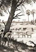 Pleistocene scene at West Turkana