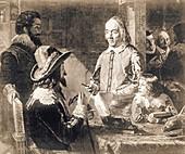 Harvey demonstrating heart anatomy to Charles I