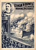 Lyman H. Howe's motion pictures, illustration, circa 1898