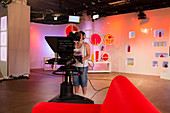 Broadcast video camera operator