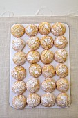 Coconuts cookies on a linen