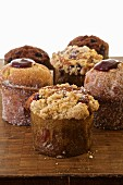 Organic muffins with different flavors