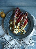 Grilled radicchio with blue cheese