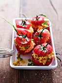 Tomatoes stuffed with paella