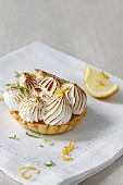 Lemon Meringue Tart with Space for text