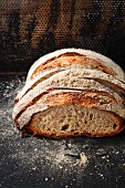 Dark Swiss bread made from wheat flour