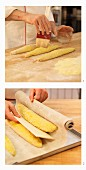 Lupine baguette being made