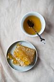 Honey on a honeycomb