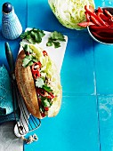 Cheat's chicken banh mi