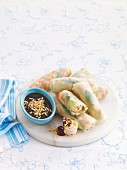 Chicken and hoisin rice paper rolls