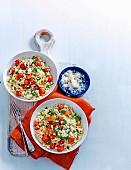 Mixed Tomato and Feta Risotto