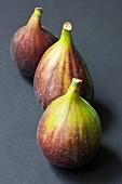Three fresh organic figs