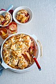 Pear, Rhubarb and Almond Cobbler