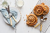 Cinnamon Swirls at breakfast