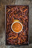 Chilli chutney and dried chillies