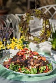Persian style roast lamb shoulder with pomegranate for Easter