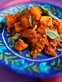 A plate of Bombay potatoes