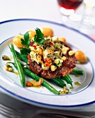 Fillet steak and new potatoes