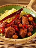 A bowl of chicken piri piri