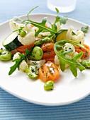 Gesundes Essen: Gemüsesalat 'Fünf am Tag'