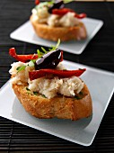 Brandade of salted cod bruschetta