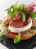 Italian bagel editorial food