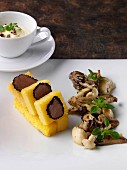 Polenta and truffles