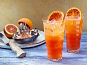 Blood orange ginger ale