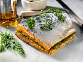 Gravlax with dill