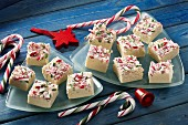 Candy cane fudge