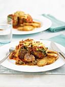 Beef rissoles florentine