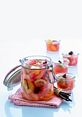 Fruit compote in a preserving jar