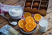 Zutaten für Orangenkuchen