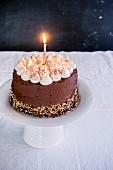Chocolate Happy Birthday Cake