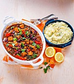 Greek Lamb Casserole with Parsnip Mash
