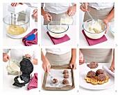 Waffeltorte mit Eiscreme zubereiten