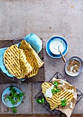 Spiced Chapattis with Coriander Yoghurt