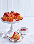 Whole Orange Cake with Rhubarb Syrup