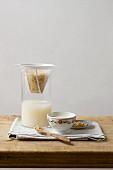 Homemade vegan nut milk