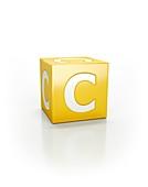 Yellow cube, C
