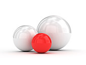White and red balls, illustration