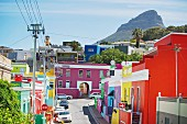 Brightly coloured houses in Bo-Kaap, Cape Town, South Africa