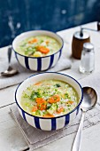 Barley soup with vegetables
