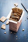 Crackers in an open box